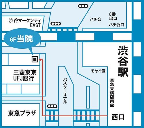 ゆうメンタルクリニック渋谷院(心療内科・精神科)アクセス地図